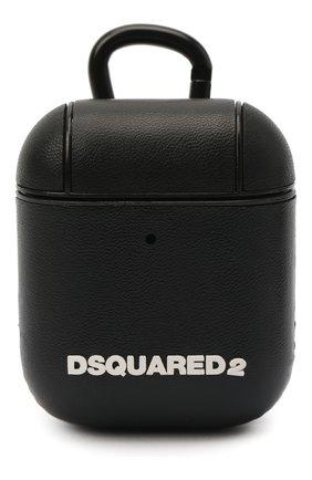 Мужской чехол для airpods DSQUARED2 черного цвета, арт. ITM0096 39202566 | Фото 1