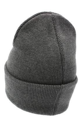 Мужская шерстяная шапка DSQUARED2 серого цвета, арт. KNM0001 01W03533 | Фото 2