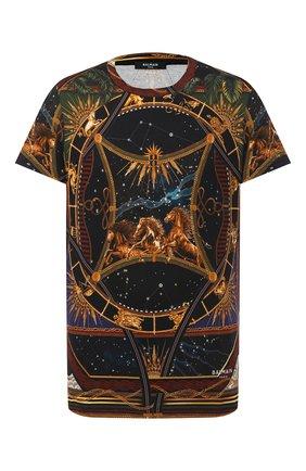 Мужская хлопковая футболка BALMAIN разноцветного цвета, арт. UH01601/I351 | Фото 1