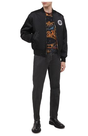 Мужская хлопковая футболка BALMAIN разноцветного цвета, арт. UH01601/I351 | Фото 2