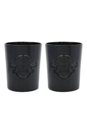 Мужского комплект из двух стаканов для сока и воды RALPH LAUREN черного цвета, арт. 680557788001 | Фото 1