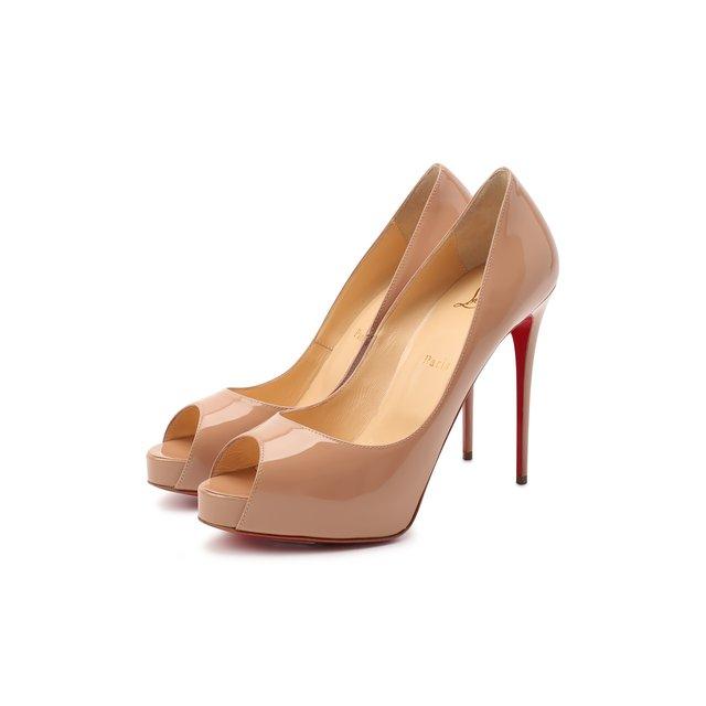 Кожаные туфли New Very Prive 120 Christian Louboutin