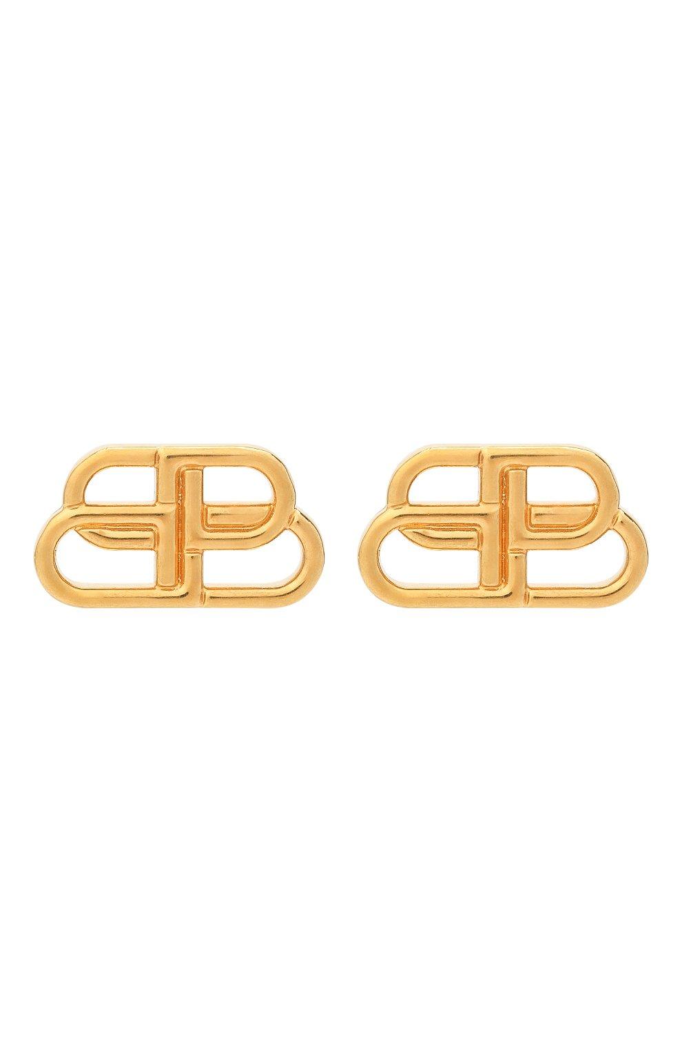 Женские серьги bb stud s BALENCIAGA золотого цвета, арт. 624199/TZ99G   Фото 1