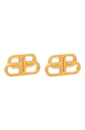 Женские серьги bb stud s BALENCIAGA золотого цвета, арт. 624199/TZ99G   Фото 3