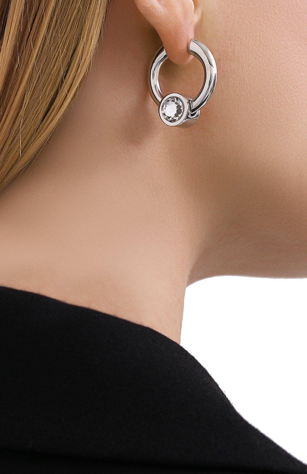 Женские серьги BALENCIAGA серебряного цвета, арт. 624664/J841R | Фото 2