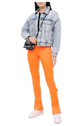 Женские брюки OFF-WHITE оранжевого цвета, арт. 0WCA119F20FAB0022500   Фото 2