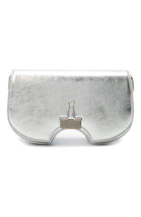 Женская сумка swiss flap OFF-WHITE серебряного цвета, арт. 0WNA141F20LEA0027200   Фото 1