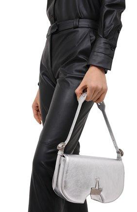 Женская сумка swiss flap OFF-WHITE серебряного цвета, арт. 0WNA141F20LEA0027200   Фото 2