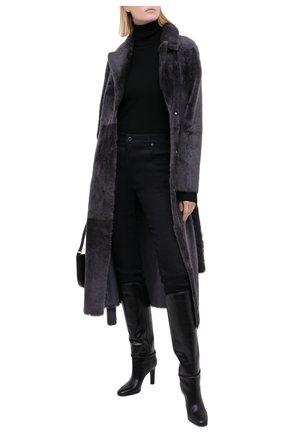 Женская двусторонняя дубленка YVES SALOMON темно-серого цвета, арт. 21WYM60417MERL | Фото 2