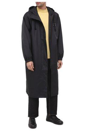 Мужские кожаные кеды SANTONI темно-серого цвета, арт. MBCN21374NEAPMMBG62 | Фото 2