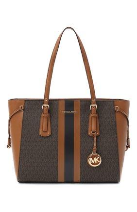 Женский сумка-шопер voyager MICHAEL MICHAEL KORS коричневого цвета, арт. 30T0GV6T2B | Фото 1
