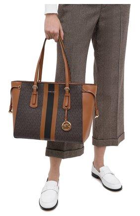 Женский сумка-шопер voyager MICHAEL MICHAEL KORS коричневого цвета, арт. 30T0GV6T2B | Фото 2