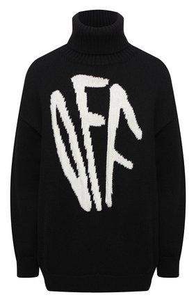 Женская шерстяной свитер OFF-WHITE черного цвета, арт. 0WHF008F20KNI0011001 | Фото 1