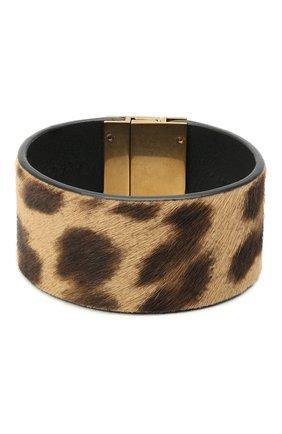 Женский браслет id cuff SAINT LAURENT коричневого цвета, арт. 542012/1ZR0W | Фото 2