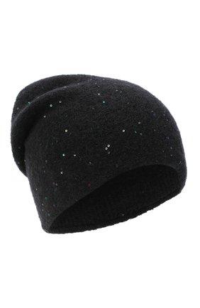Женская шерстяная шапка passion CANOE черного цвета, арт. 4705910 | Фото 1