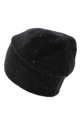 Женская шерстяная шапка passion CANOE черного цвета, арт. 4705910 | Фото 2