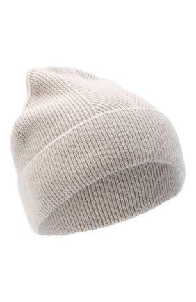 Женская кашемировая шапка amsterdam CANOE светло-бежевого цвета, арт. 4912152 | Фото 1