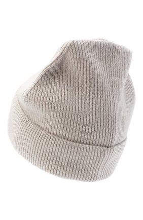 Женская кашемировая шапка amsterdam CANOE светло-бежевого цвета, арт. 4912152 | Фото 2