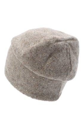 Женская шерстяная шапка passion CANOE светло-коричневого цвета, арт. 4705992 | Фото 2