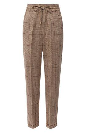 Женские шерстяные брюки KITON бежевого цвета, арт. D37102K05T13 | Фото 1