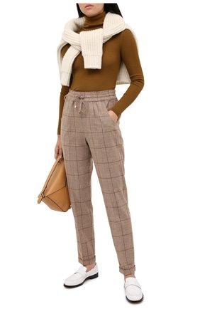 Женские шерстяные брюки KITON бежевого цвета, арт. D37102K05T13 | Фото 2
