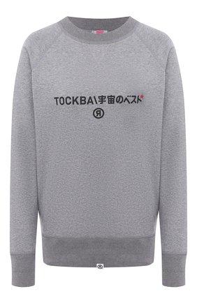 Женская хлопковый свитшот TOSKVA серого цвета, арт. SWIT sweatshirt -SS.U001-W21-T1-901-200   Фото 1