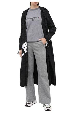 Женская хлопковый свитшот TOSKVA серого цвета, арт. SWIT sweatshirt -SS.U001-W21-T1-901-200   Фото 2