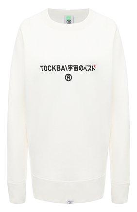 Женская хлопковый свитшот TOSKVA белого цвета, арт. SWIT sweatshirt -SS.U001-W21-F5-100-200   Фото 1