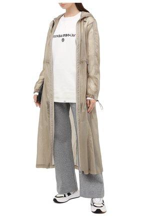 Женская хлопковый свитшот TOSKVA белого цвета, арт. SWIT sweatshirt -SS.U001-W21-F5-100-200   Фото 2