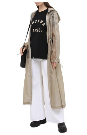 Женская хлопковая футболка TOSKVA черного цвета, арт. GIRL BASE t-shirt-TS.W002-W21-T4M-900-300   Фото 2