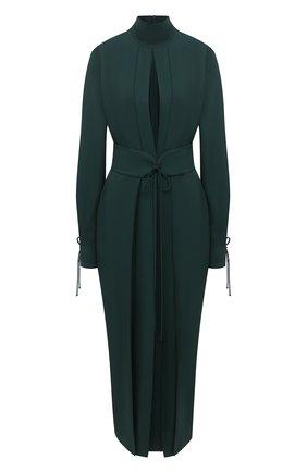 Женское платье из вискозы VICTORIA BECKHAM зеленого цвета, арт. 1320WDR001614A | Фото 1