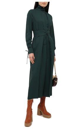 Женское платье из вискозы VICTORIA BECKHAM зеленого цвета, арт. 1320WDR001614A | Фото 2