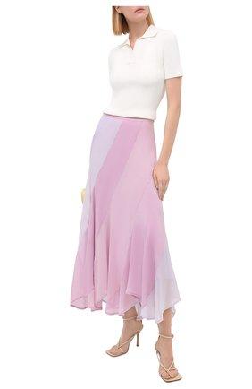 Женская шелковая юбка POLO RALPH LAUREN светло-розового цвета, арт. 211805928 | Фото 2