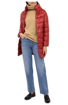 Женский стеганый пуховик HERNO красного цвета, арт. PI0177DIC/12017 | Фото 2