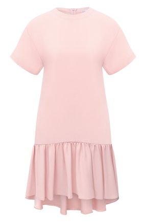 Женское платье REDVALENTINO светло-розового цвета, арт. UR0VAV40/0F1   Фото 1 (Материал внешний: Синтетический материал, Вискоза; Рукава: Короткие; Длина Ж (юбки, платья, шорты): Мини; Женское Кросс-КТ: Платье-одежда; Случай: Повседневный; Стили: Романтичный)