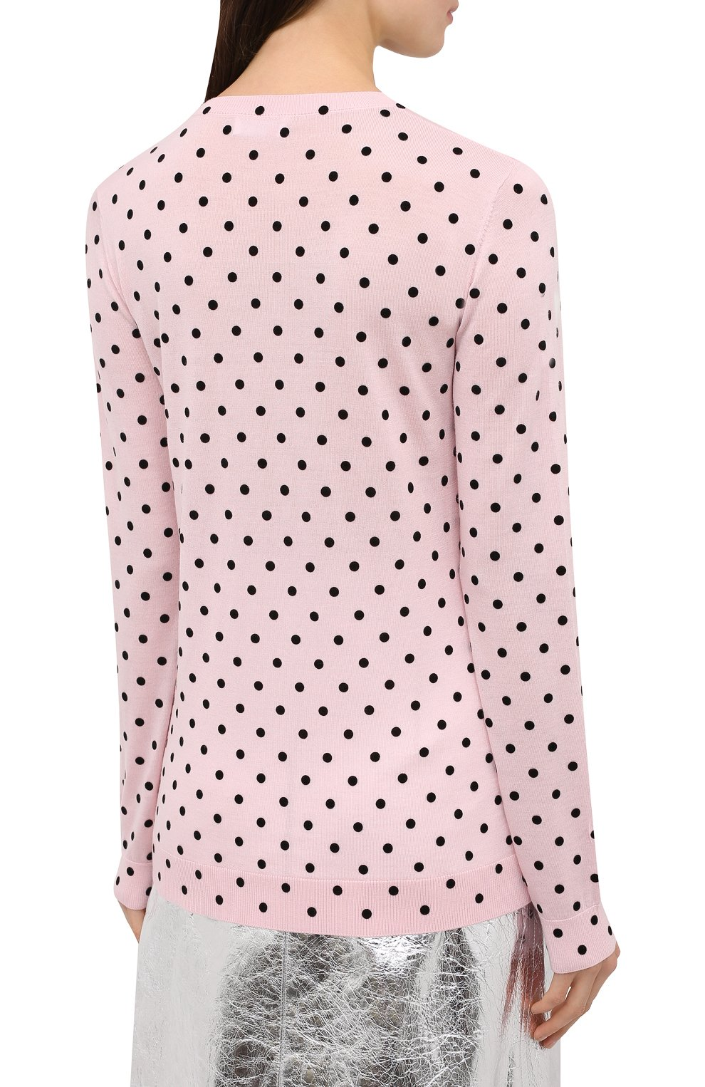 Женский шерстяной пуловер REDVALENTINO светло-розового цвета, арт. UR0KC02V/5EY | Фото 4