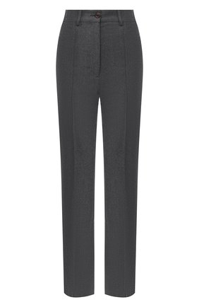 Женские шерстяные брюки SEE BY CHLOÉ темно-серого цвета, арт. CHS20APA01031 | Фото 1