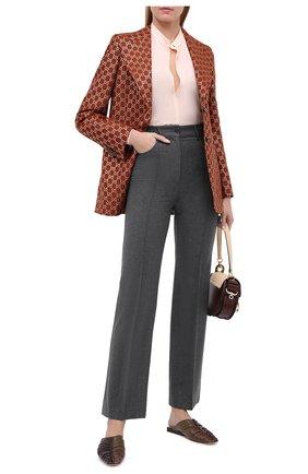 Женские шерстяные брюки SEE BY CHLOÉ темно-серого цвета, арт. CHS20APA01031 | Фото 2
