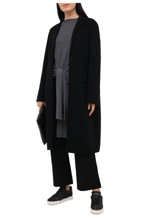 Женские комбинированные кеды portofino light DOLCE & GABBANA черного цвета, арт. CK1545/AW460   Фото 2