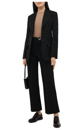 Женская кожаные дерби TOD'S бордового цвета, арт. XXW59C0DD20SHA | Фото 2