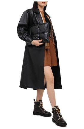 Женские кожаные ботинки valentino garavani vlogo VALENTINO черно-белого цвета, арт. UW0S0Q03/JVA | Фото 2