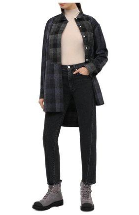 Женские кожаные ботинки valentino garavani rockstud VALENTINO серого цвета, арт. UW2S0R66/SPU | Фото 2