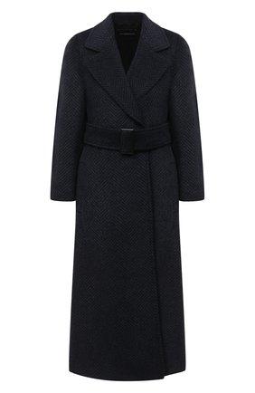 Женское шерстяное пальто EMPORIO ARMANI темно-синего цвета, арт. 9NL18T/92701 | Фото 1