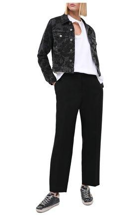 Женские кожаные кеды superstar GOLDEN GOOSE DELUXE BRAND черного цвета, арт. GWF00101.F000824   Фото 2