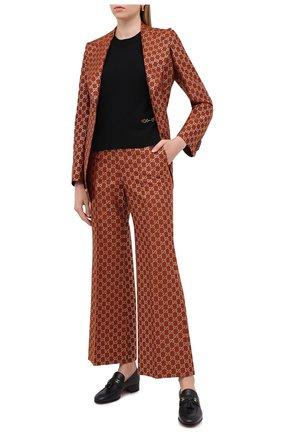 Женский кашемировый пуловер GUCCI черного цвета, арт. 628389/XKBH9   Фото 2
