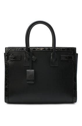 Женская сумка sac de jour из кожи каймана SAINT LAURENT черного цвета, арт. 400631/0SXXW/CCR0 | Фото 1
