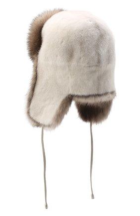Женская норковая шапка-ушанка KUSSENKOVV бежевого цвета, арт. 92003696093 | Фото 2