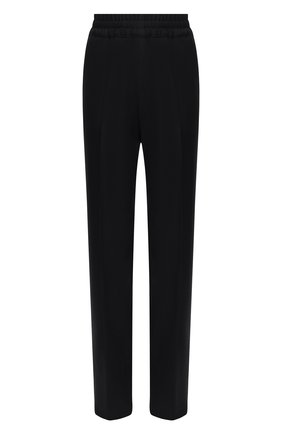 Женские шерстяные брюки DRIES VAN NOTEN черного цвета, арт. 202-10902-1224 | Фото 1