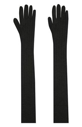 Женские шерстяные перчатки DRIES VAN NOTEN черного цвета, арт. 202-12211-1703 | Фото 2