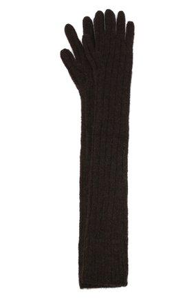 Женские шерстяные перчатки DRIES VAN NOTEN коричневого цвета, арт. 202-12211-1710 | Фото 1